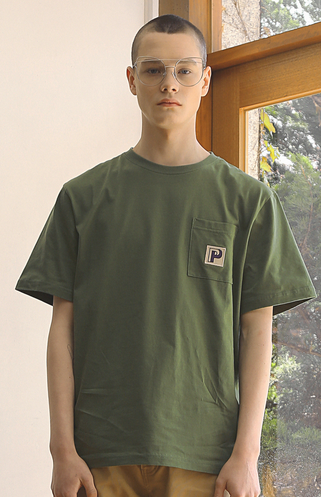 P POCKET T-SHIRTS / GREEN