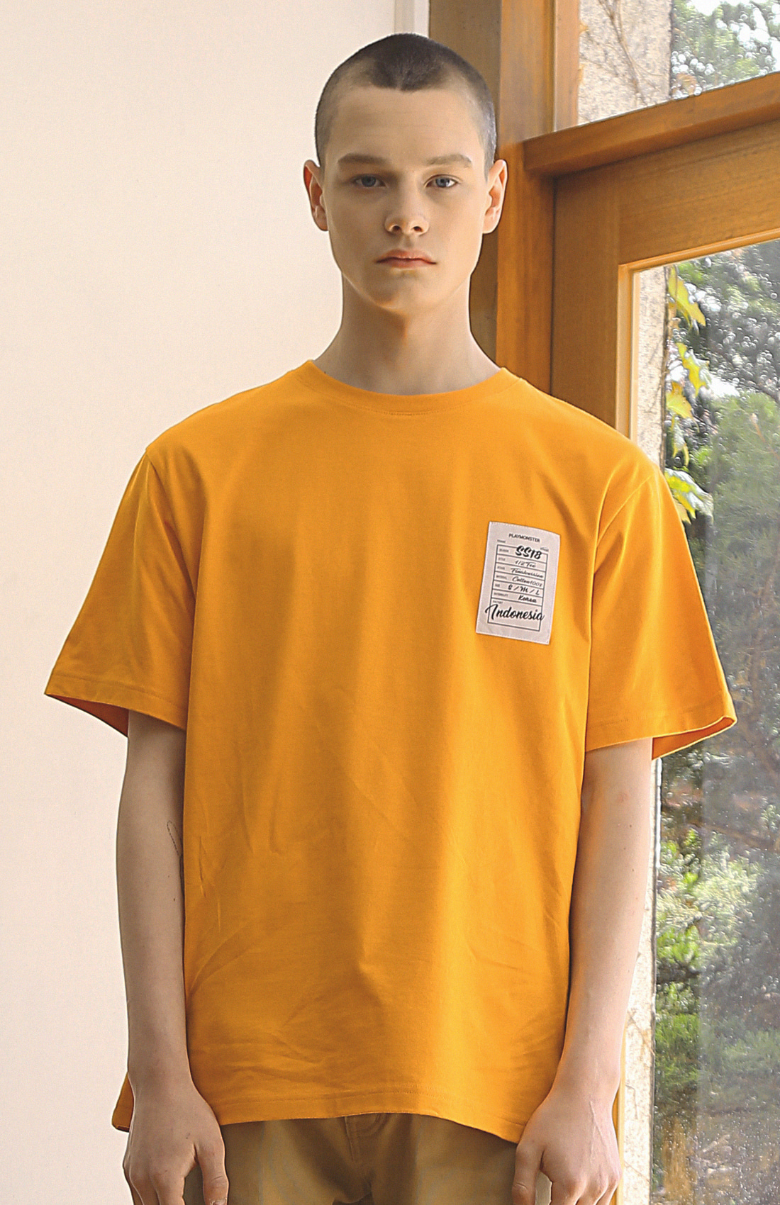HANG LABEL T-SHIRTS / MUSTARD