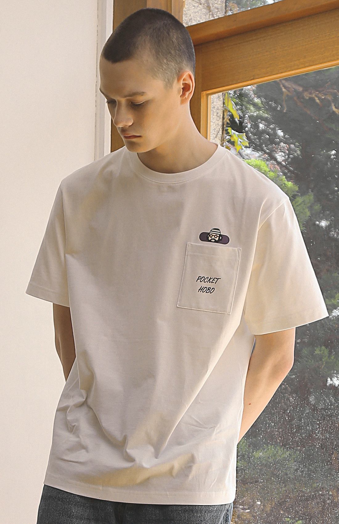 POCKET HOBO T-SHIRTS / WHITE