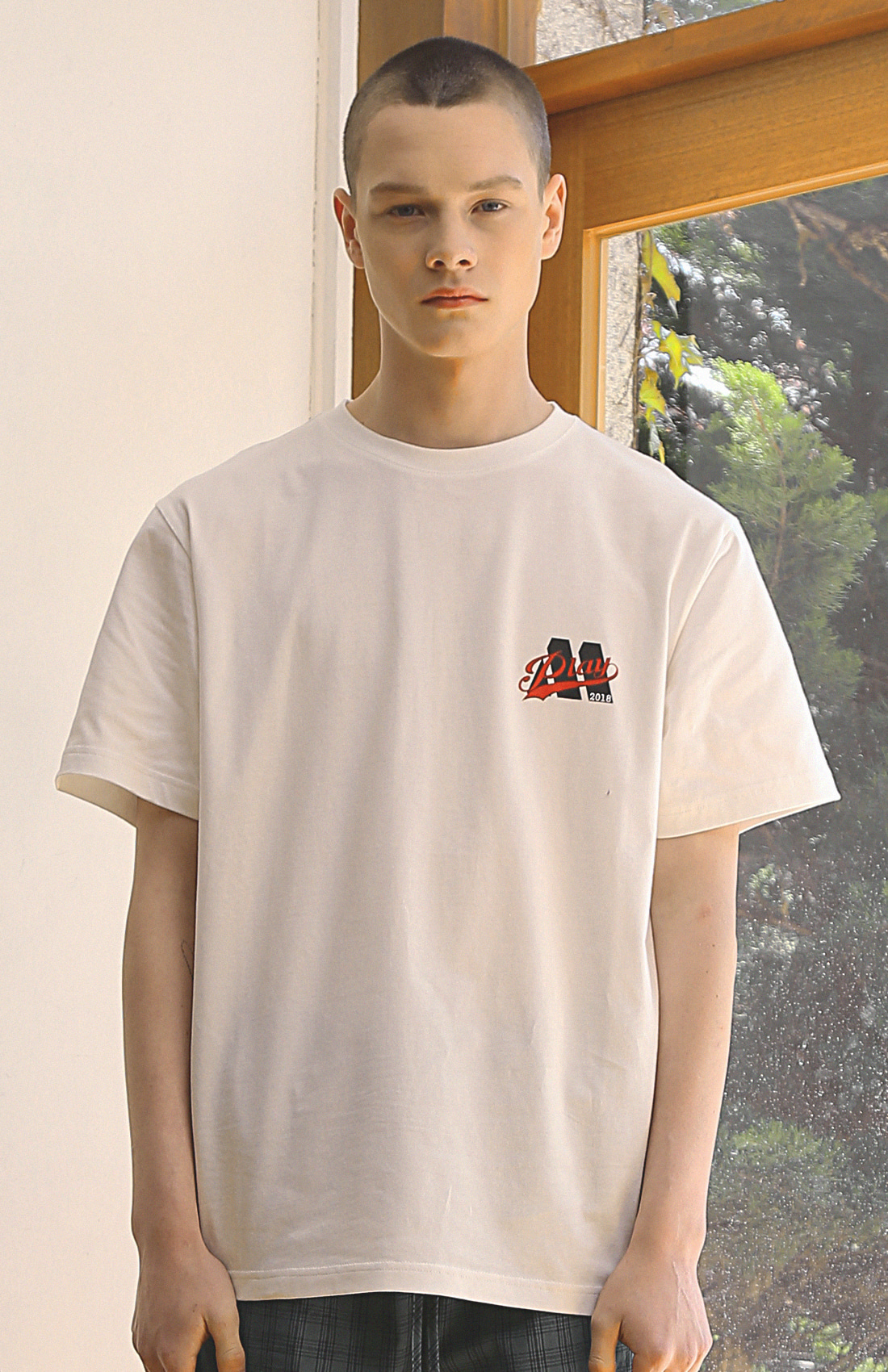PLAY M  T-SHIRTS / WHITE