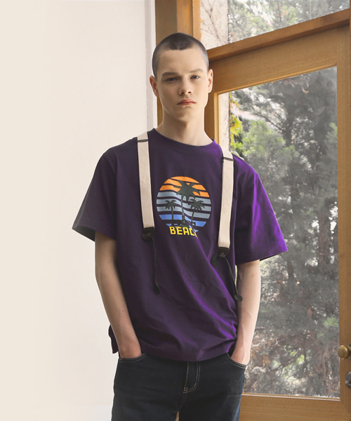 SEA_SIDE T-SHIRTS / PURPLE