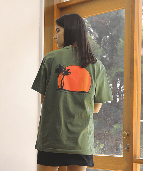 SUNSET T-SHIRTS / GREEN