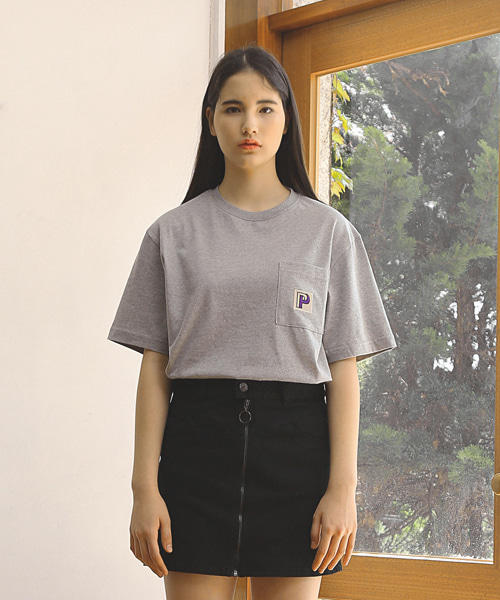 P POCKET T-SHIRTS / GREY