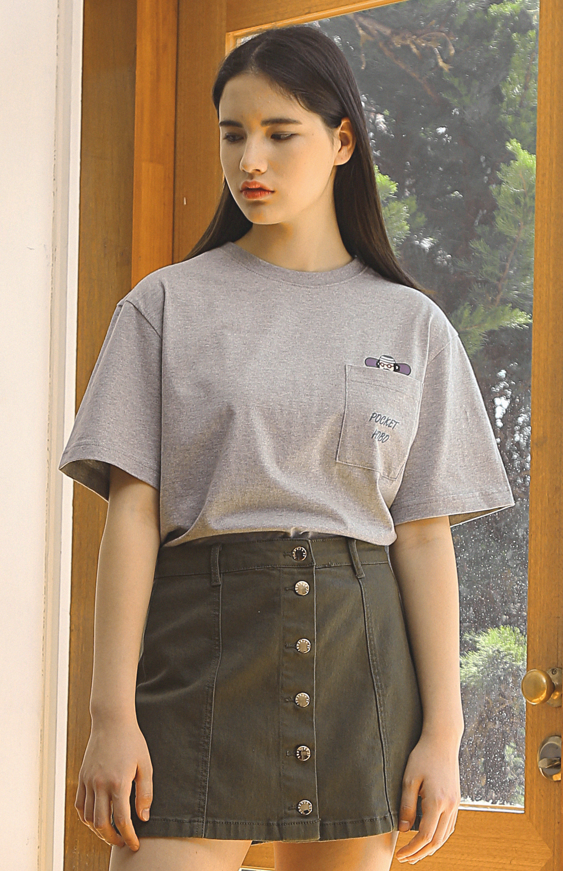 POCKET HOBO T-SHIRTS / GREY