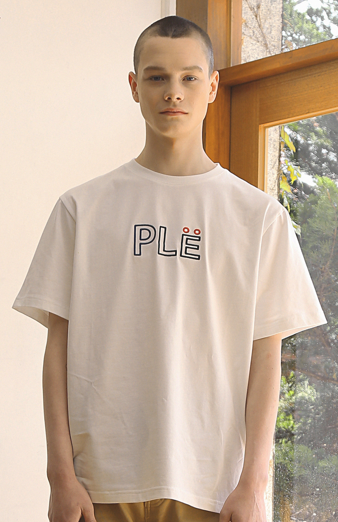 NEEDLE PLE T-SHIRTS / WHITE