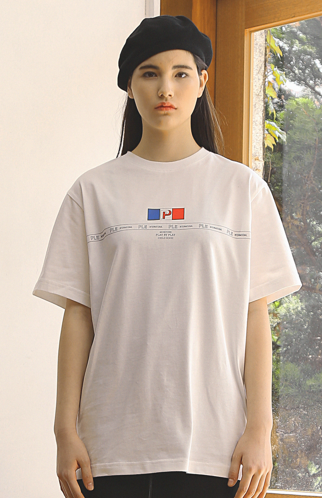 FLAG T-SHIRTS / WHITE